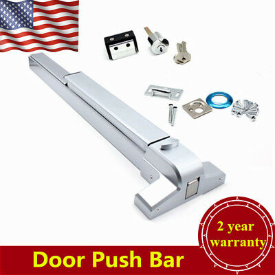 NEW Door Push Bar Panic Exit Device Lock Emergency Hardware Latches USA STOCK