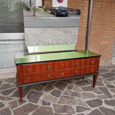ITALIAN ART DECO CHEST OF DRAWERS FROM 50s/60s IN ROSEWOOD PAOLO BUFFA STYLE