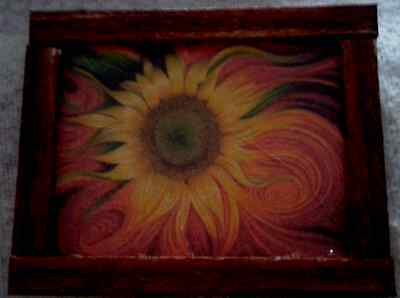 Dolls House A Sunflower Painting