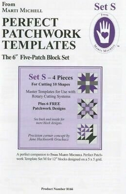 Marti Michell - Perfect Patchwork Template Set S Five Patch 6 Inch