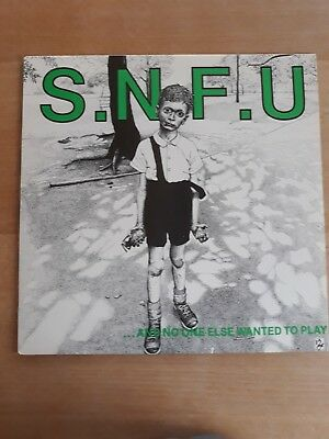 Snfu - and no one else wanted to play vinyl lp byo hc