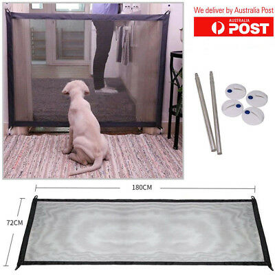 Magic Gate Portable Folding Safe Guard Install Mesh Met For Pets Dog Puppy Cat
