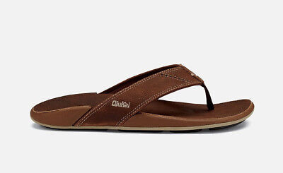 Mens Sandals Nui Leather Rum Tan M US Size 10 NEW