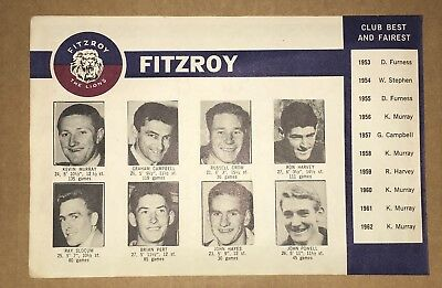 1963 Shell Vfl Autograph Book Complete Team Page - Fitzroy
