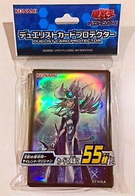 Yugioh Konami Official Card Sleeve Protector - Silent Magician - 55 pcs Sealed!