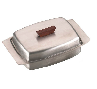 Traditional Stainless Steel Metal Homely Butter Dish And Cover With Lid