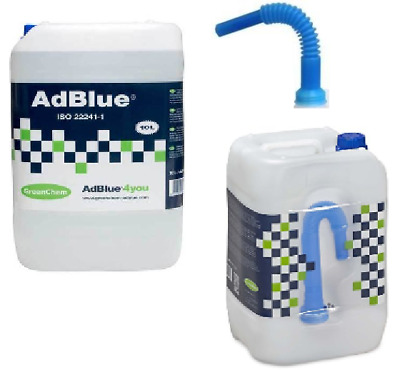 AdBlue 10 Litre 10L Diesel Engine SCR System Treatment With Spout - Greenchem