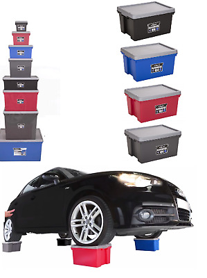 Strong Heavy Duty Warehouse Stackable Plastic Storage Box Boxes With Lids Bam