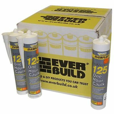 Everbuild 125 White One 1 Hour Decorators Flexible Caulk Filler Sealer Box of 12
