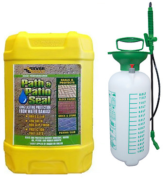Everbuild 25L Path & Patio Seal and Sealer Paving Sealant 8 Litre Pressure Spray
