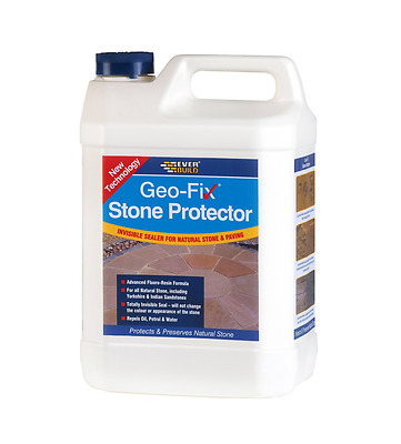 Everbuild Geo-Fix Stone Protector Natural Stone Patio Sealer Resin 1 Litre