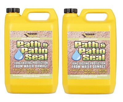 EVERBUILD 405 PATH & PATIO SEAL 5L BLOCK PAVING 10 LITRE WATER SEAL SEALER 5lx2