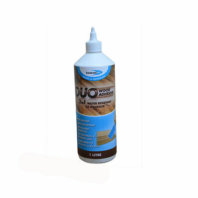 Bond It Duo 2 In 1 Fast Drying Pva Technology Water Resistant Wood Glue 1 Litre