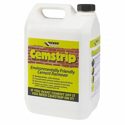 Everbuild Cemstrip Cement Stain Mortar Salt Remover 5 Litre Eco Friendly Cleaner