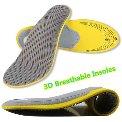 3D Sports & Running Insoles Ultra-light Breathable Cuttable Orthotic Feet Pad