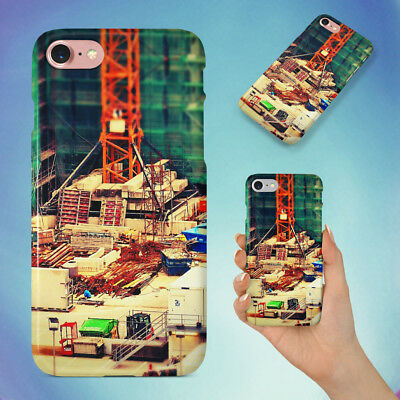 Construction Site Miniture Hard Back Case For Apple Iphone Phone