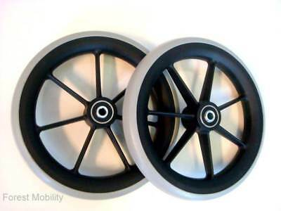 "1 pair of 8"" Front Castor Wheels for many Standard Wheelchairs 200x27mm"