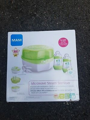 Mam Microwave Steam Steriliser, Bottles & Dummy Green