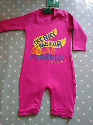 Little Green Radicals Do Ray Me Baby Girl Sleepsuit 0-3 Months 62cm BNWT!