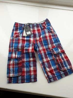 Boys Fat Face checked summer shorts BNWT SIZE 8-9 years