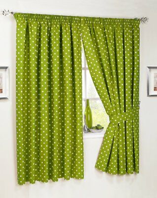 Dreams N Drapes Dot To Dot - Tende A Pois, 46 X 48 Cm, Colore Verde