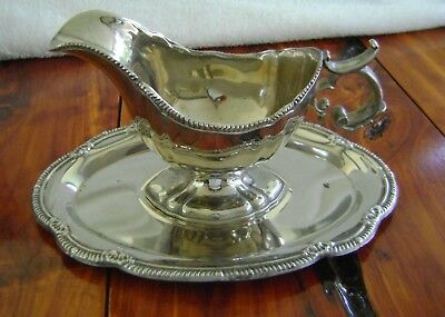 Gravy Boat with Underplate Silverplate
