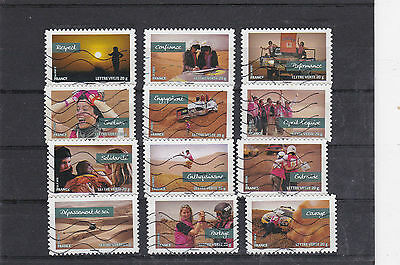 France 2013 Values De Femmes Serie Full Of 12 Stamps Cancelled