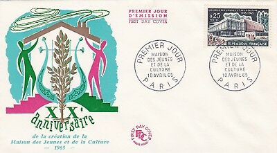 France 1965 Fdc Maison Young People And The Culture Yt 1448
