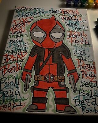 DeadPool canvas! Graffitti vibez!