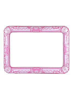Inflatable Blow up Picture Frame Pink 60 X 80cm Fancy Party Decoration Accessory