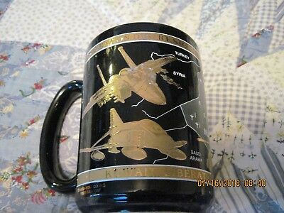 Operation Desert Storm Coffee Mug Cup Aviation Commemorative 22K Gold