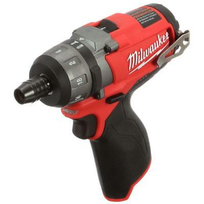 "Milwuakee 2402-20 M12 FUEL Li-Ion Brushless Cordless 1/4"" 2-Speed Screwdriver"