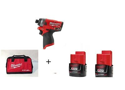 "Milwaukee 2553-22 M12 FUEL™ 1/4"" Hex Impact Driver Kit"