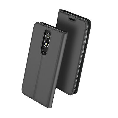 Dux Ducis For Nokia 5.1 PU Leather Flip Case Wallet Magnetic Skin Cover Pouch