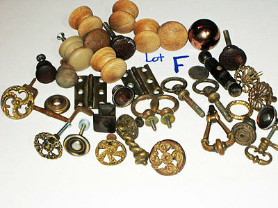 36 vintage BRASS Ornate DRAWER furniture PULLS  etc. (steampunk) Hardware lot F