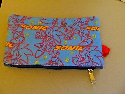 Sonic The Hedgehog Canvas  Pencil Case, Cosmetic Bag, Purse (NEW)