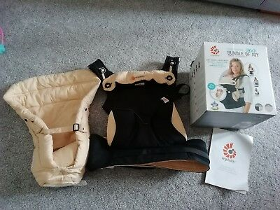 Ergobaby 360 baby carrier with infant insert. Used once.
