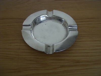 A Large Solid Silver Ash Tray Assayed London 1931