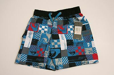 dc3ebbd7d5db9 Quiksilver Boys Toddler 2/2T Board Shorts Mesh Lined Swim Trunks Blue  Hawaiian