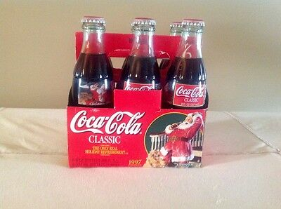 Six Pack Coca Cola 8 oz Sealed Never Opened 1997 Christmas Edition