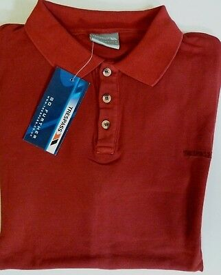 Brand New Mens Trespass Red Outdoor Walking Work Cotton Polo Shirt Red All Sizes