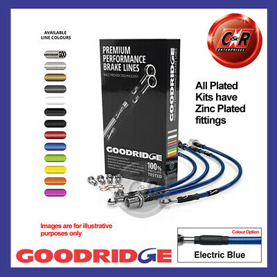 Ford Focus MK3 1.5 TDCi 14- Z.Plated El Blue Goodridge Brake Hoses SFD0253-4P-EB