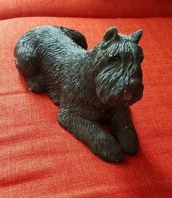Sandicast dog bouvier kerry blue terrier signed