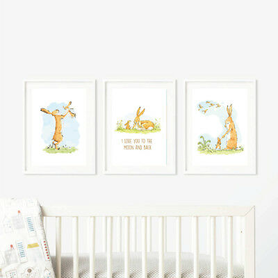 Guess How much I love you - Nursery wall art Prints - set of 3