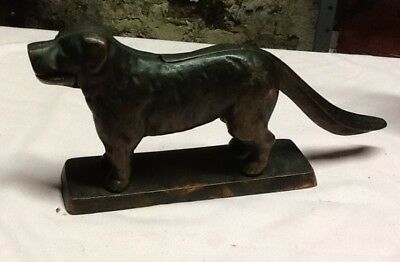 Rare Antique 1898 Chicago Hardware Foundry Cast Brass Bronze Dog Nutcracker