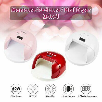 SUNX 54W UV LED Lamp Nail Dryer Cure Gel Polish Infrared Sensor 4 Timers Setting