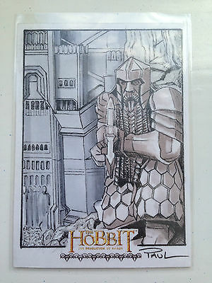 The Hobbit Desolation of Smaug Sketch Card by Paul Cowan