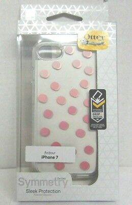 Genuine OtterBox Symmetry CLEAR Polka dot  Series Case For iPhone 7 & 8