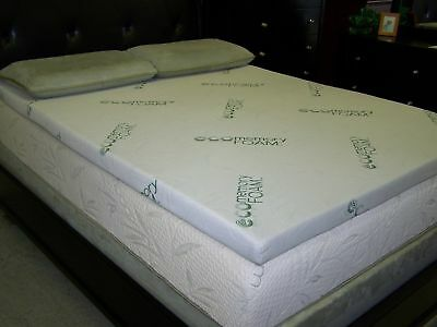 Bamboo Memory Foam Mattress Toppers Soft Luxurious Durable All Sizes