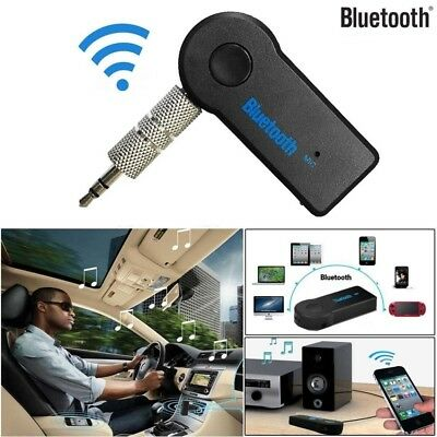 Wireless Bluetooth 3.5mm AUX Audio Stereo Music Home Car Receiver Adapter Mic US